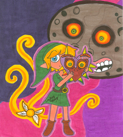 Majora's Mask for MegaDaisy1 :D by LindsayLatte