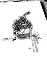 Zentangle Cupcake by erindwiazmi