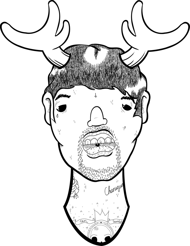 Moose Head by ScottAlexanderHam123 on deviantART