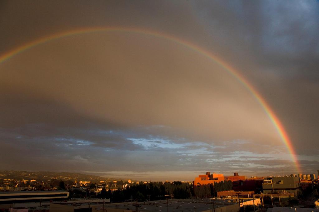 Rainbow Over Oakland by danielgregoire