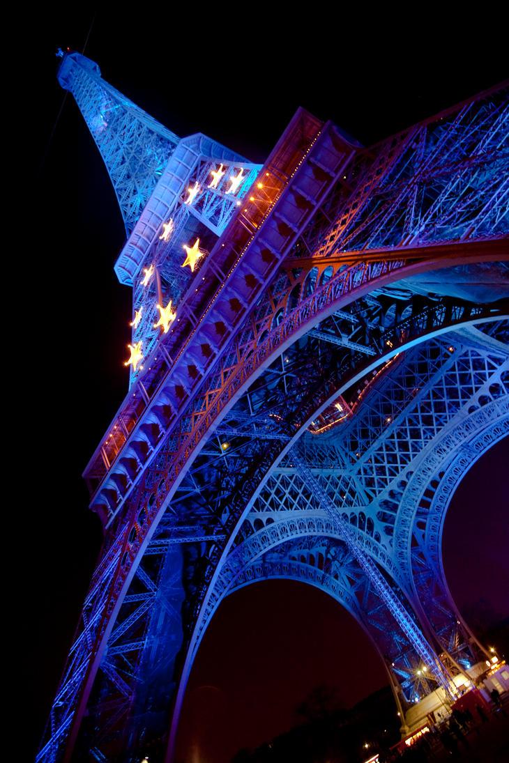 Eiffel Tower Blue by danielgregoire