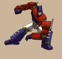 My first ever G1 Optimus Prime by RazzieMbessai