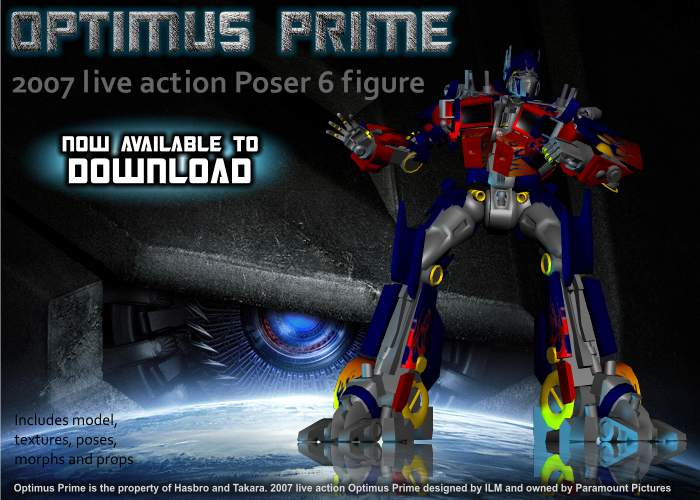 3D Movie Prime model DOWNLOAD by RazzieMbessai on DeviantArt