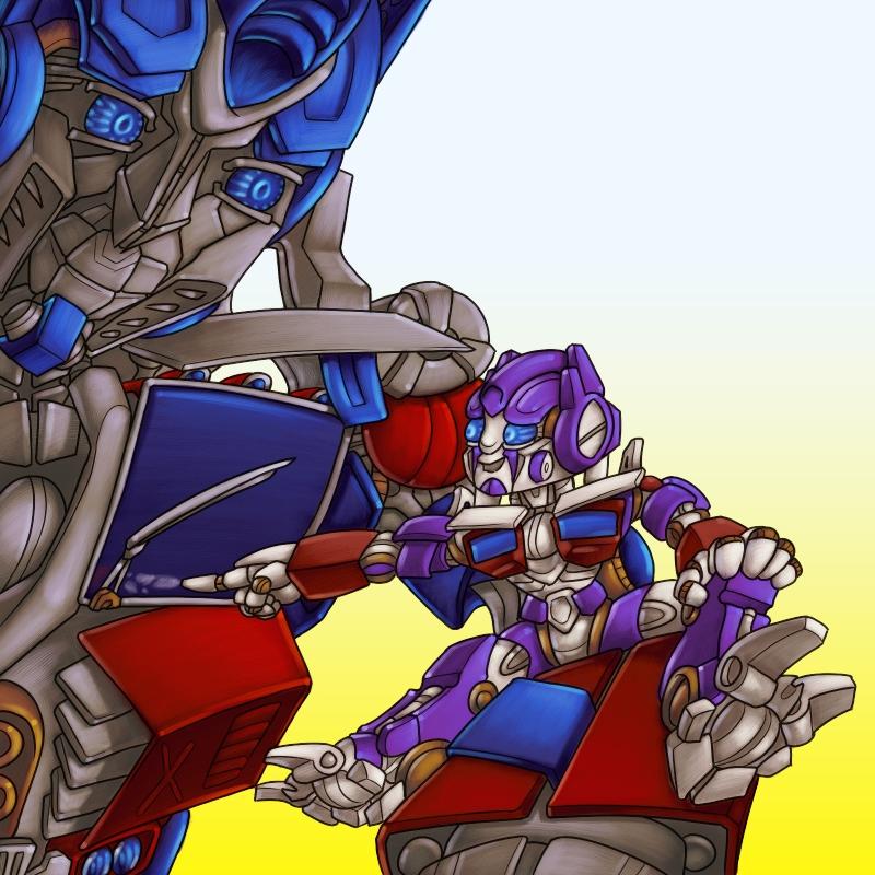 Kayda and optimus request by razziembessai on deviantart