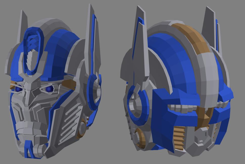3D Age of Extinction Optimus Prime head by RazzieMbessai