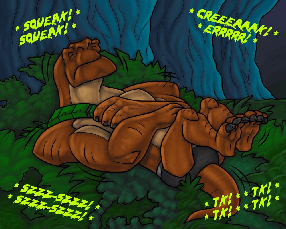 Humungousaur having a nightmare by RazzieMbessai