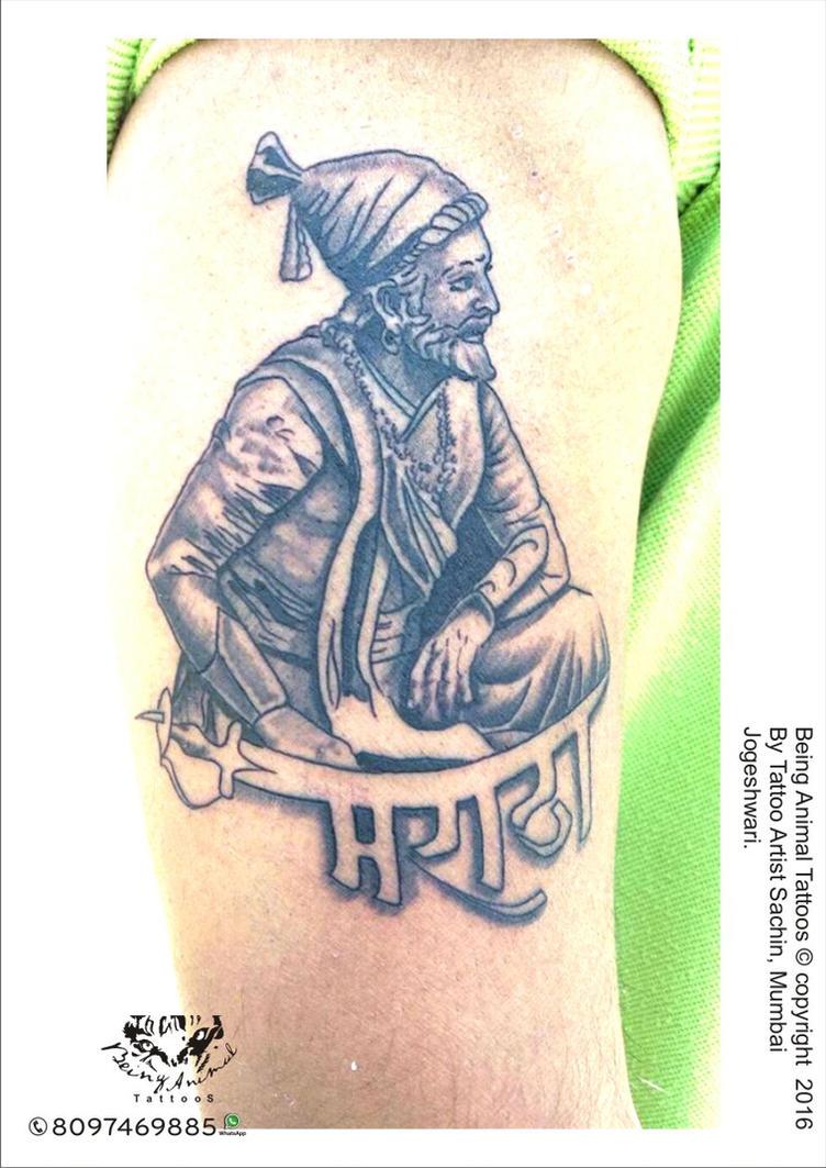 Shivaji Maharaj 01 Design By Tattoo Artist Sach By Samarveera2008 On Deviantart