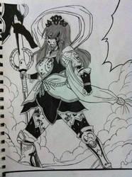 Erza Nakagami armor drawing Fairy tail manga anime by nickperriny7mai
