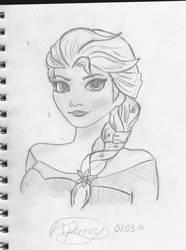 Queen Elsa the Frozen ice queen ( let it go XD ) by nickperriny7mai