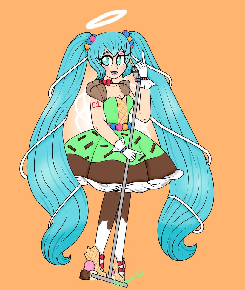 Candy Candy Miku by Ashourii