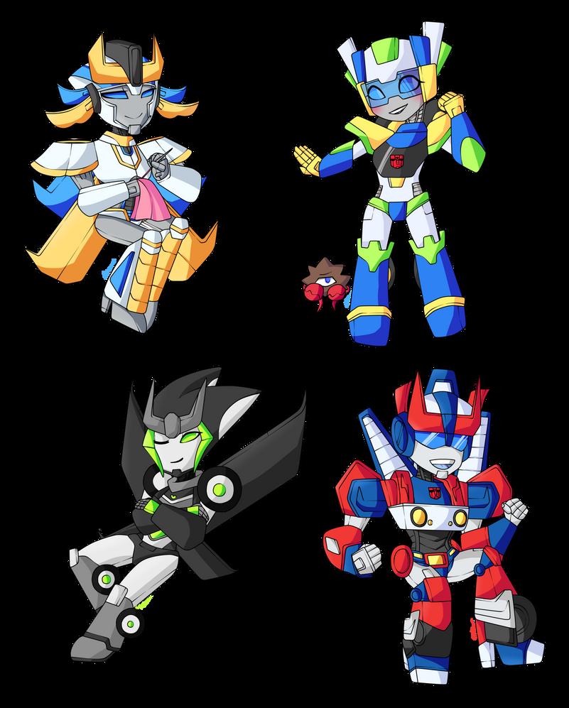 Transformers Oc chibis by Ashourii