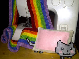Nyan Cat Scarf by Demon-of-Laplace