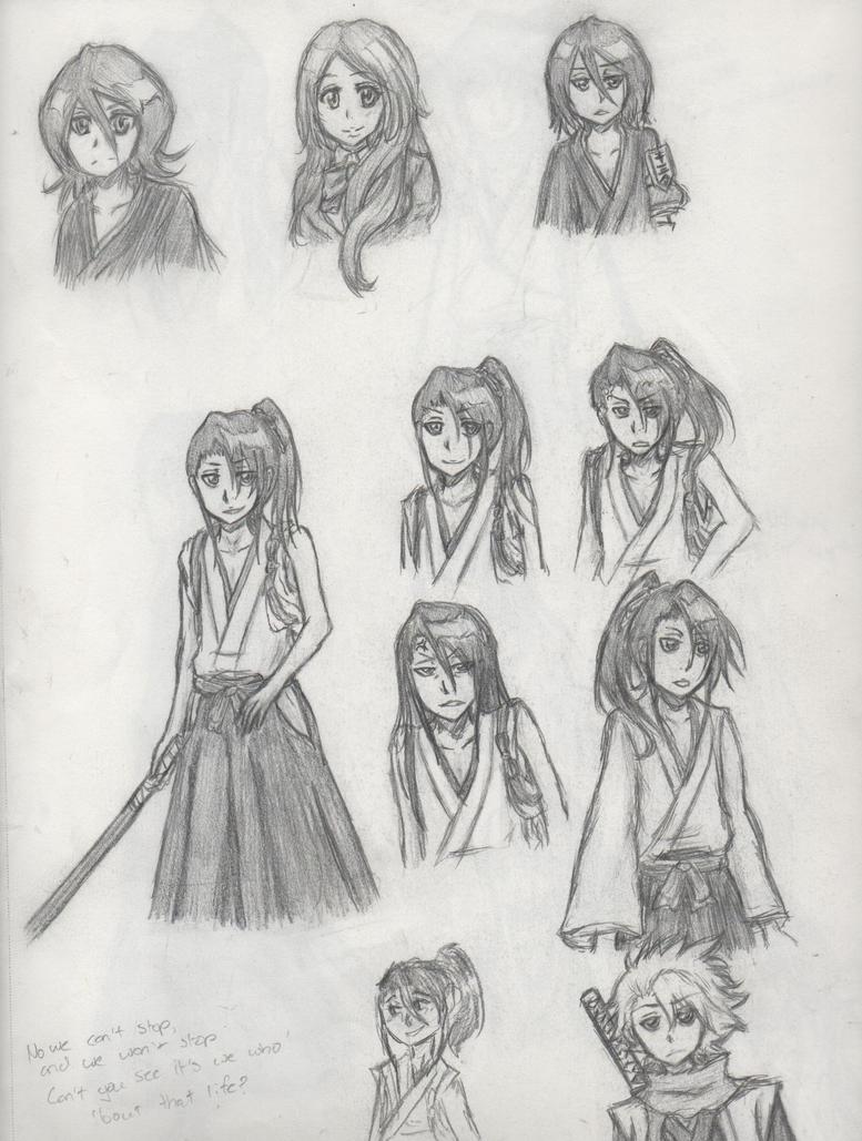 Bleach and Young Byakuya spam by SaberTigre