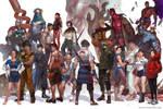 Comics characters assemble