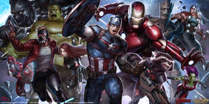 MARVEL Avengers and Guardians of the Galaxy