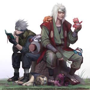 Jiraiya and Kakashi