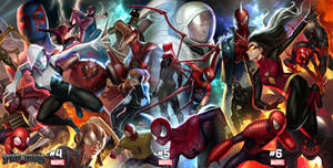 Spider-Geddon Connecting Cover 4~6 of 6