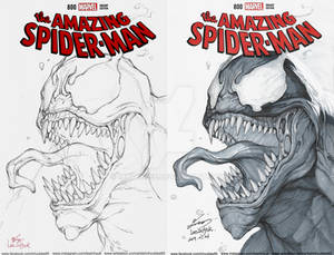 VENOM / Blank cover /Pencil and Ink