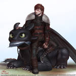 How to train your dragon3: Hiccup and Toothless