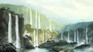 tropic waterfalls matte