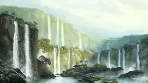 tropic waterfalls matte by pollux101