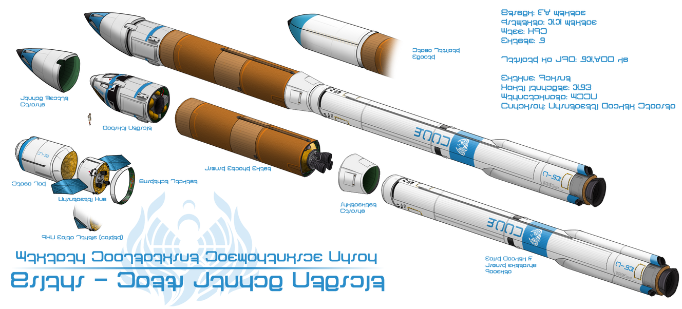 Hilani Mk-7c Orbital Launch Vehicle by Valhalla-Studios