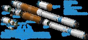 Hilani Mk-7c Orbital Launch Vehicle by Chobittsu-Studios
