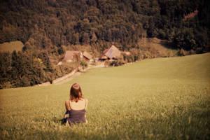 looking back by Rona-Keller
