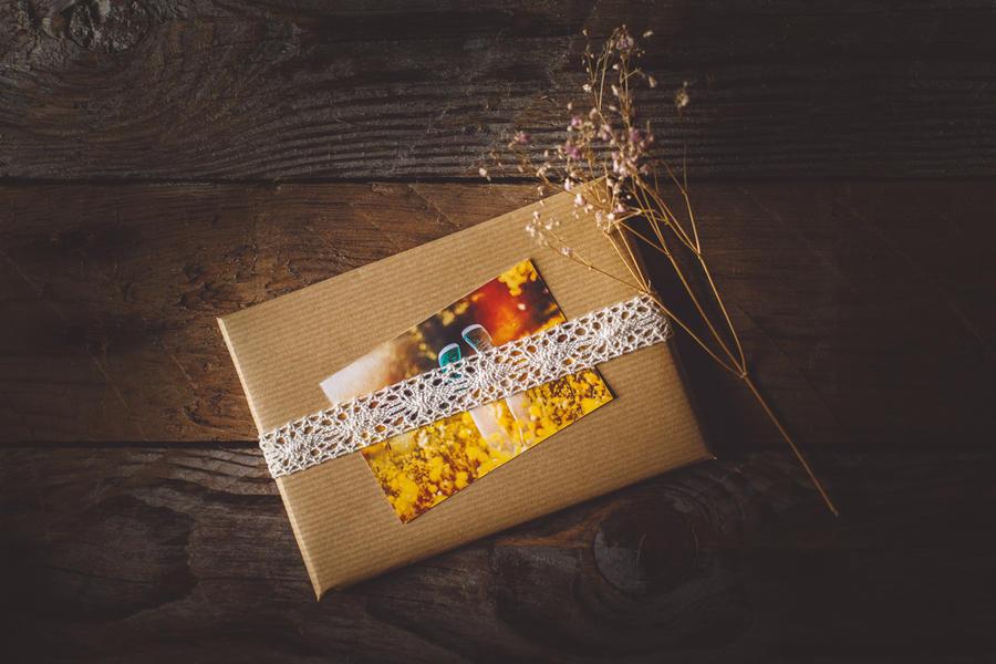 postcard parcel by Rona-Keller