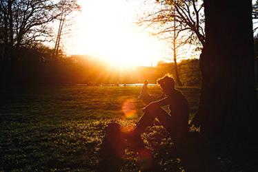 the first sunset that felt like summer by Rona-Keller