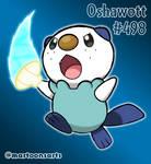 #501 Oshawott using Razor Shell