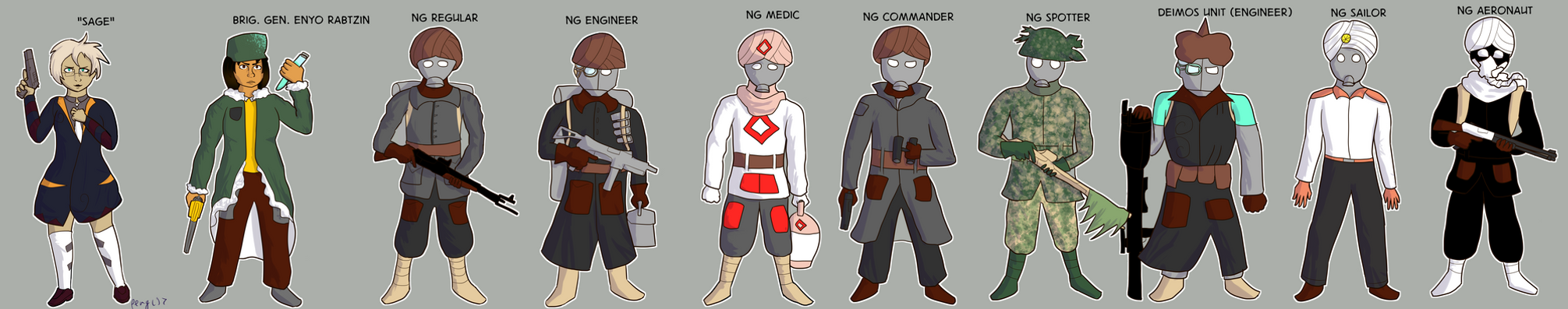 North Ghurrkan Characters and Infantry by penguinpyro