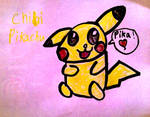 Chibi  Pikachu (colored)