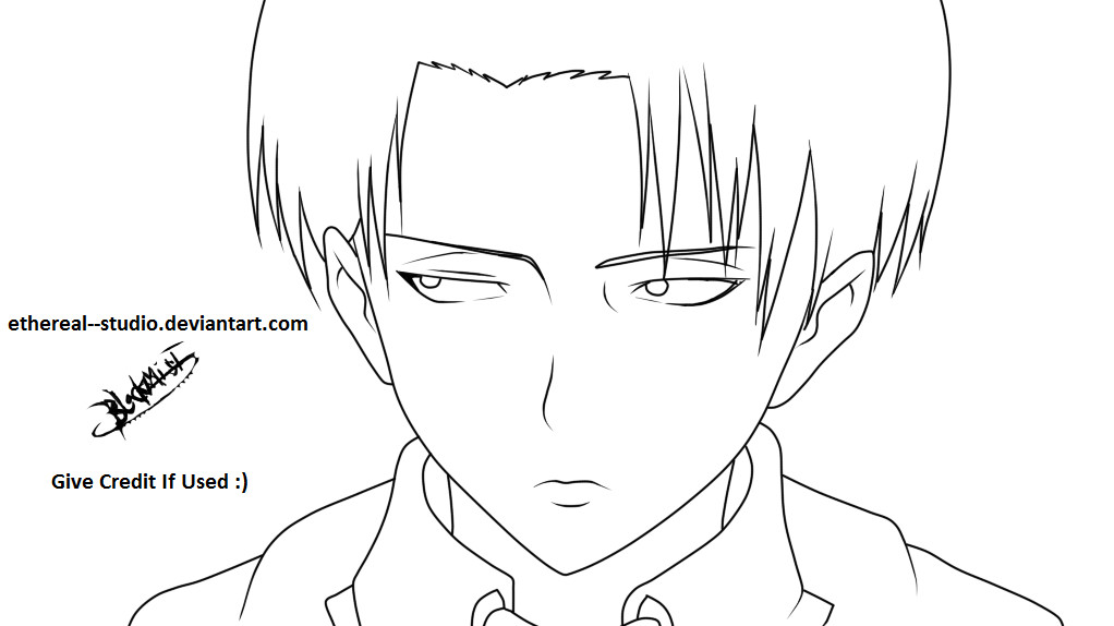 Levi Ackerman Coloring Pages