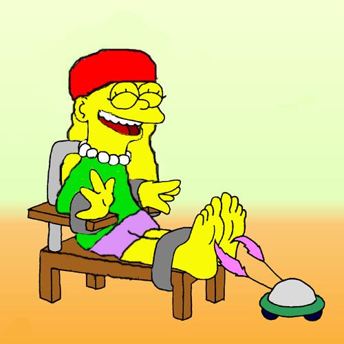 Pre-teen Lisa Simpson tickled by JakJak5