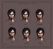 Six Expressions of Garion by Neferu
