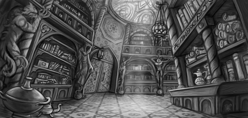 Klosterbibliothek by Neferu