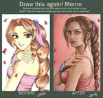 Draw this again: Aerith Gainsborough