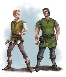 Guy in green shirt and redheaded fellow by Neferu
