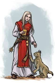 Livia with lynx