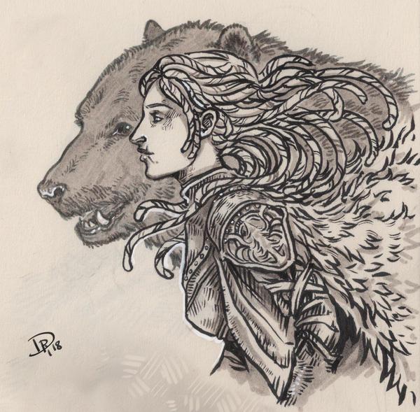Guarded by a spirit by Neferu