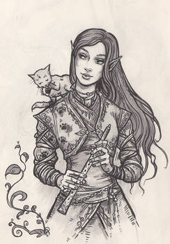 Lunaya and the kitten with the muddy paws