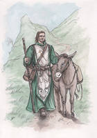 Cathal and his loyal donkey by Neferu