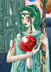 Goddess in Green by Neferu