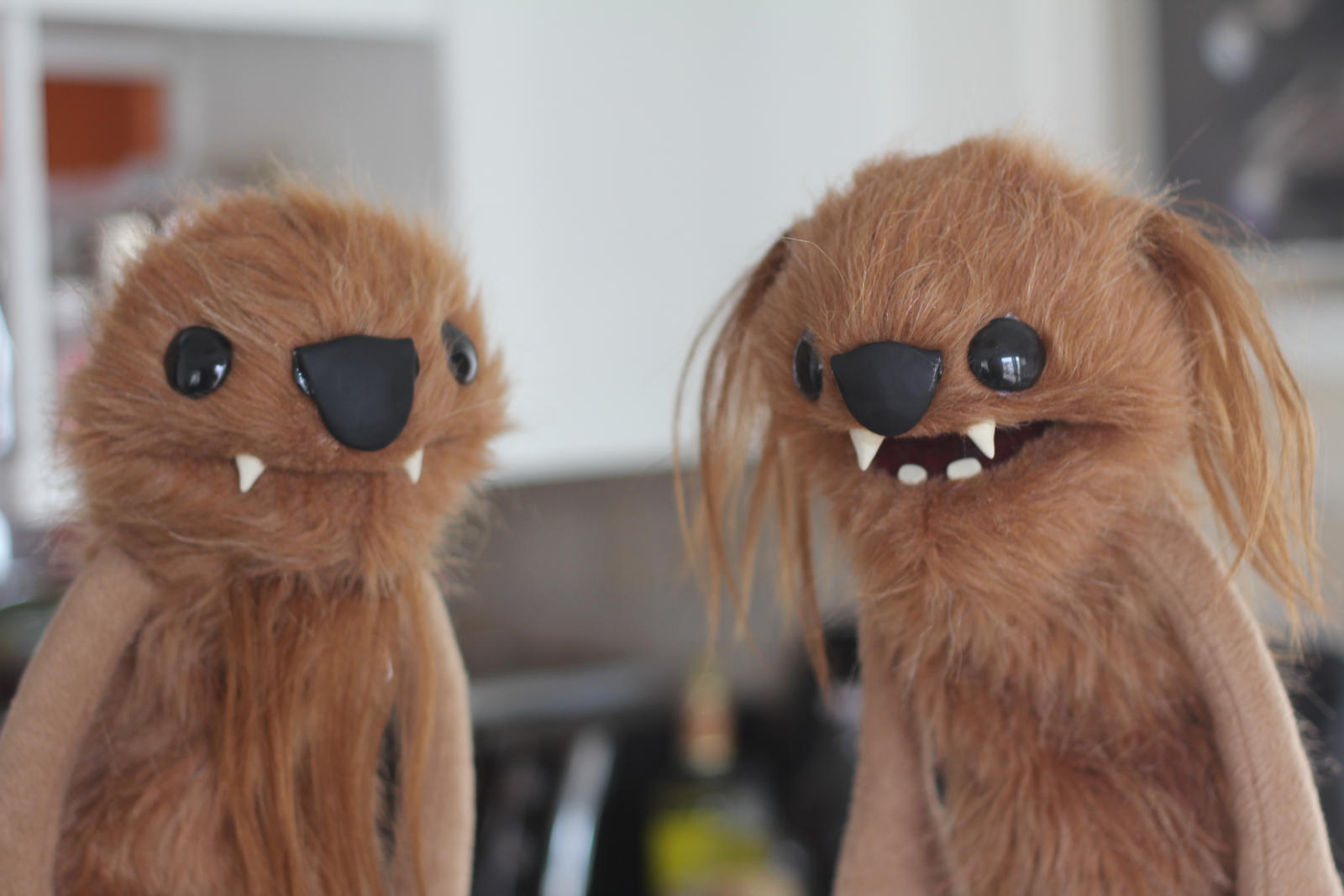 Beaver Monkey Rat Bears Puppets by tommyfilth