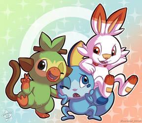 Pokemon Starters Gen 8 by CaramelKitt
