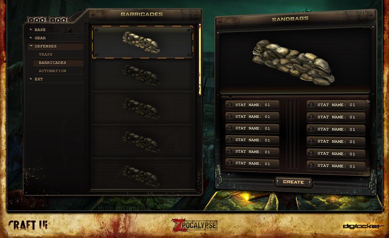 ZPocalypse: Survival   UI Design   Crafting Screen by jonnyshaw