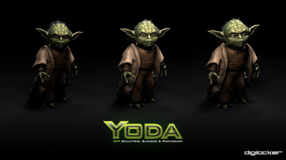 WIP | Yoda 3D by jonnyshaw