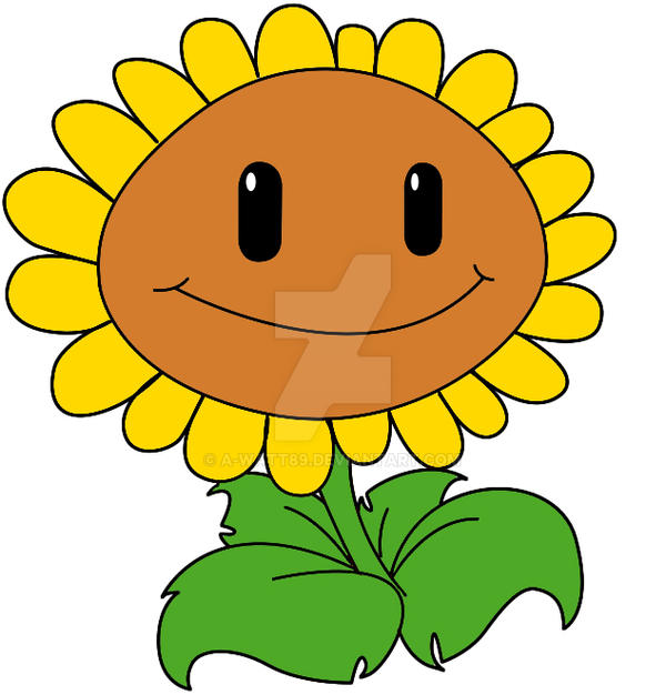how to draw plants vs zombies sunflower by a watt89 on deviantart rh a watt89 deviantart com plants vs zombies clip art plants vs zombies 2 clipart