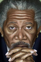 Morgan Freeman by traydaripper
